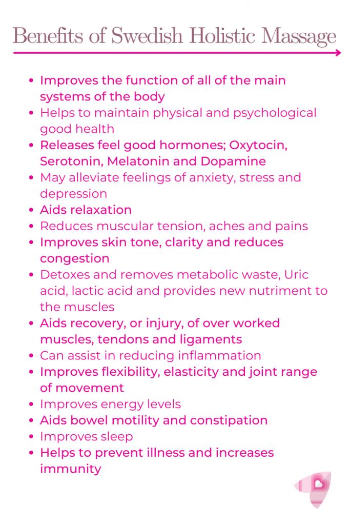 Benefits of Swedish Holistic Massage